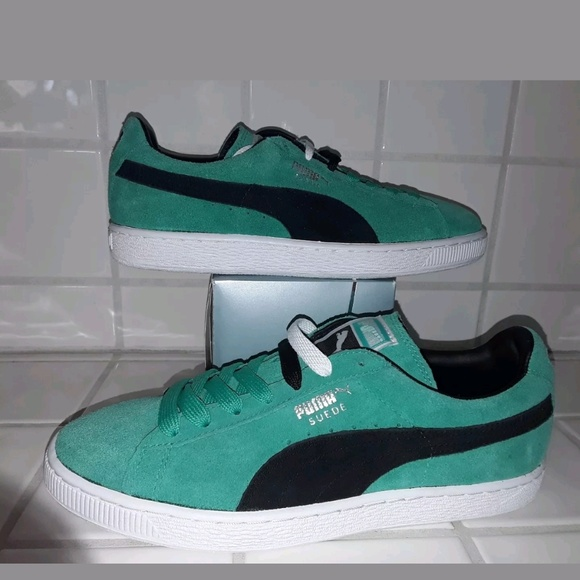 Puma suede Classic Green/black women's Size 9 NWT